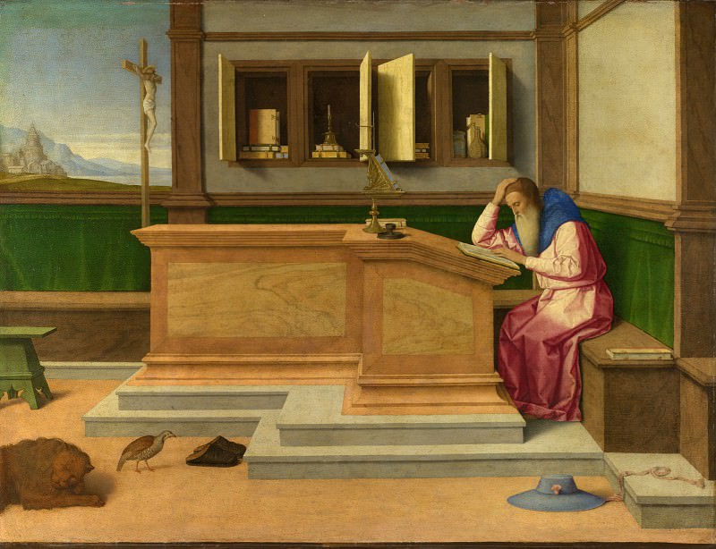 Vincenzo Catena - Saint Jerome in his Study. Part 6 National Gallery UK