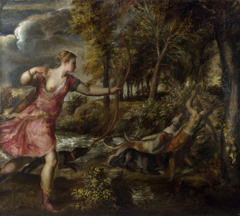 The Death of Actaeon. Titian (Tiziano Vecellio)