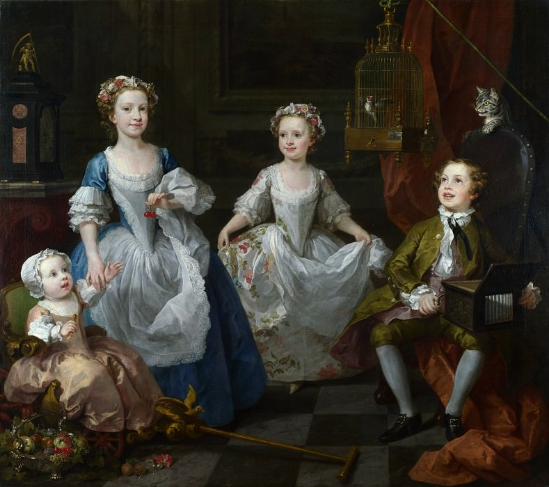 William Hogarth - The Graham Children. Part 6 National Gallery UK