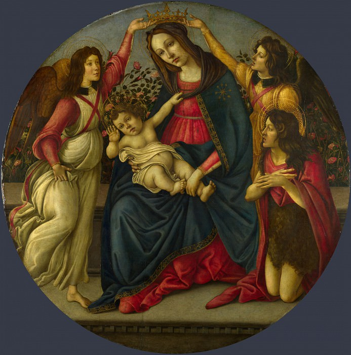 The Virgin and Child with Saint John and Two Angels (Workshop). Alessandro Botticelli