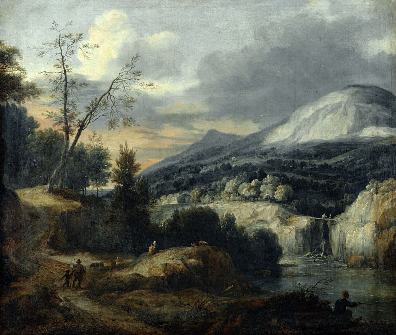 Roelant Roghman - A Mountainous Landscape. Part 6 National Gallery UK