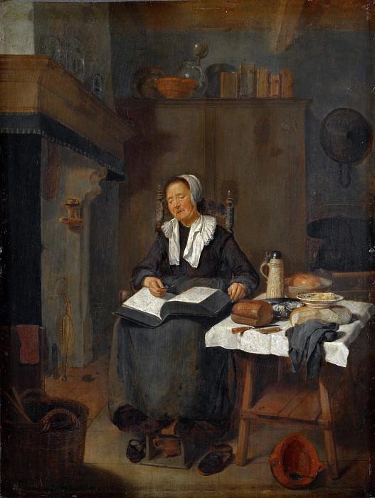 Quiringh van Brekelenkam - A Woman Asleep by a Fire. Part 6 National Gallery UK