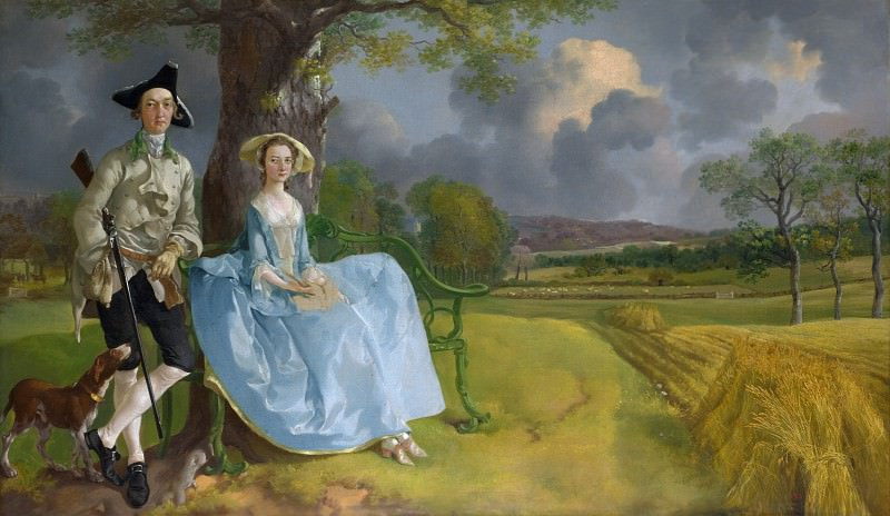 Mr and Mrs Andrews. Thomas Gainsborough