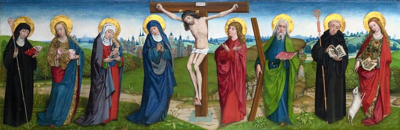 the Master of Liesborn - The Crucifixion with Saints. Part 6 National Gallery UK