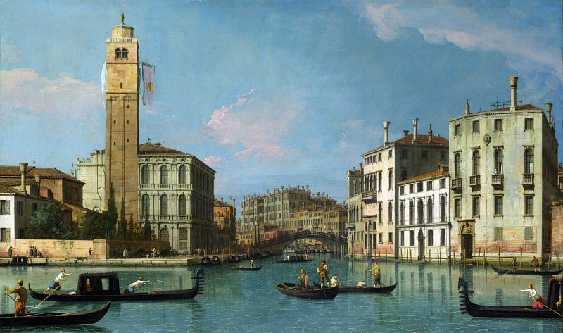Studio of Canaletto - Venice - Entrance to the Cannaregio. Part 6 National Gallery UK