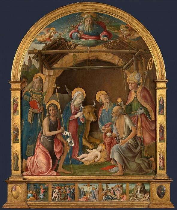 Pietro Orioli - The Nativity with Saints Altarpiece. Part 6 National Gallery UK