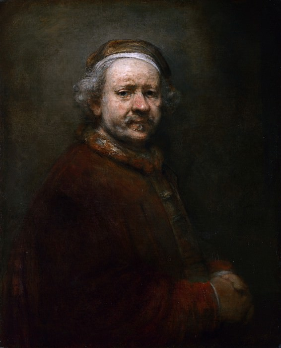 Rembrandt - Self Portrait at the Age of 63. Part 6 National Gallery UK