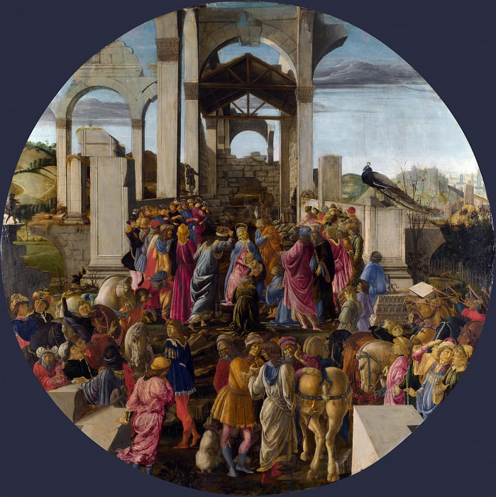 Sandro Botticelli - The Adoration of the Kings. Part 6 National Gallery UK