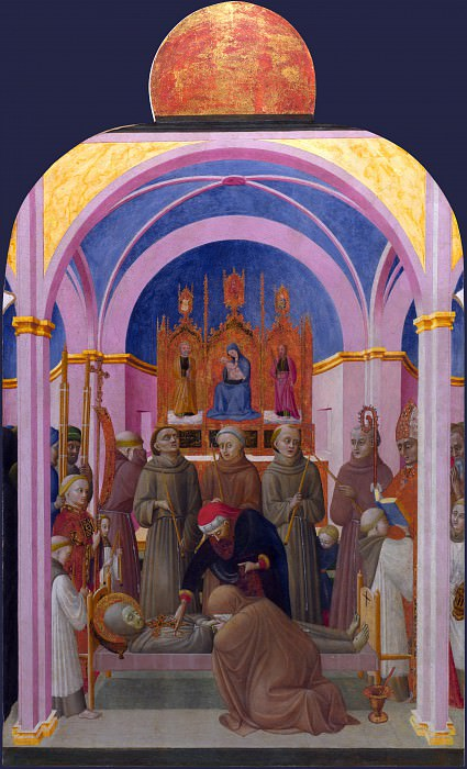 Sassetta - The Funeral of Saint Francis. Part 6 National Gallery UK