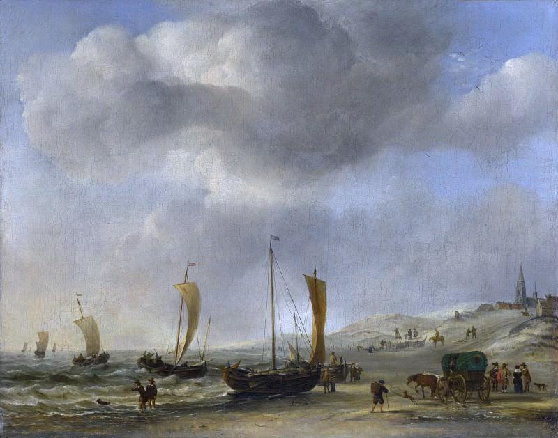 Willem van de Velde - The Shore at Scheveningen. Part 6 National Gallery UK