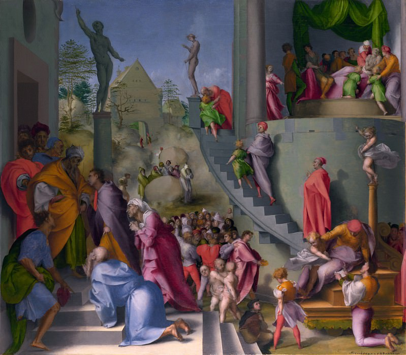 Pontormo - Joseph with Jacob in Egypt. Part 6 National Gallery UK
