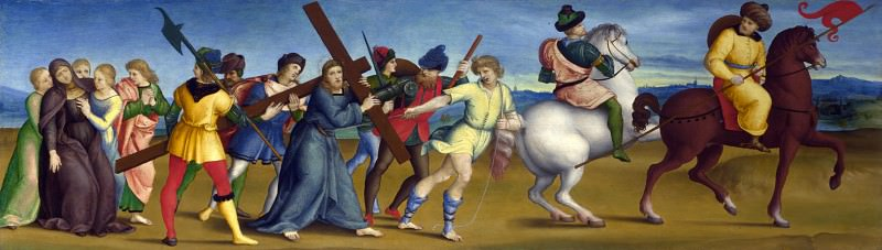 Raphael - The Procession to Calvary. Part 6 National Gallery UK