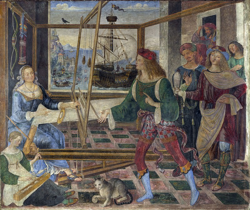 Pintoricchio - Penelope with the Suitors. Part 6 National Gallery UK
