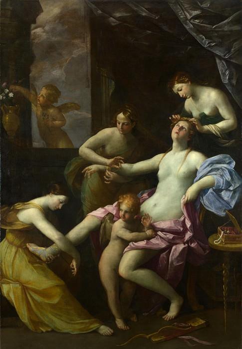 The Toilet of Venus. Guido Reni (Studio of)