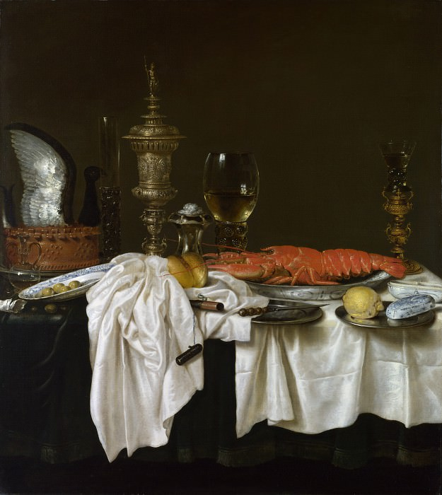 Willem Claesz. Heda - Still Life with a Lobster. Part 6 National Gallery UK