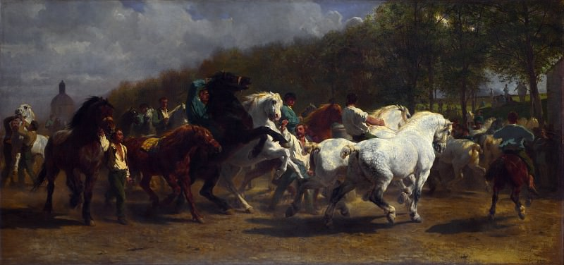 Rosa Bonheur and Nathalie Micas - The Horse Fair. Part 6 National Gallery UK