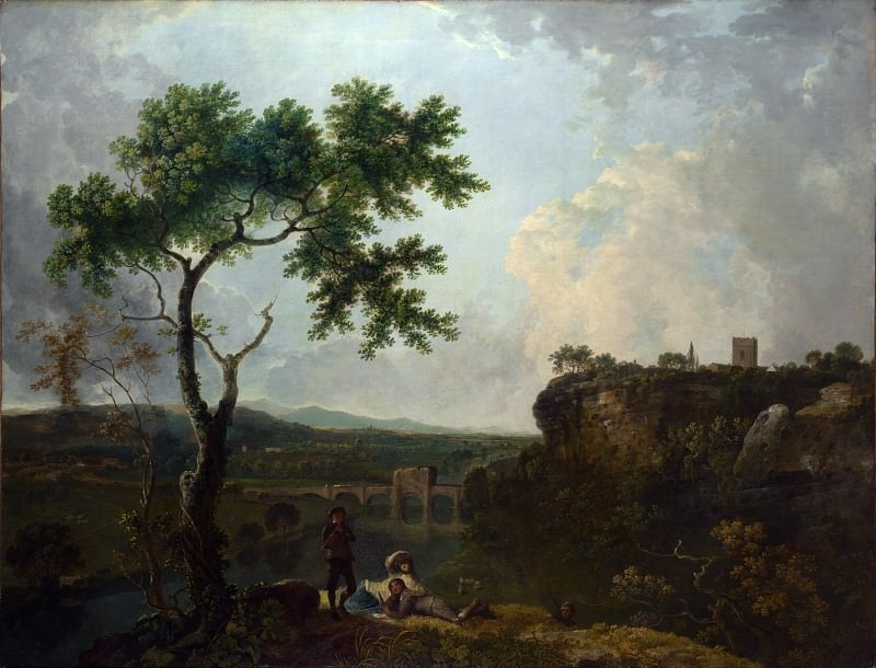 Richard Wilson - Holt Bridge on the River Dee. Part 6 National Gallery UK