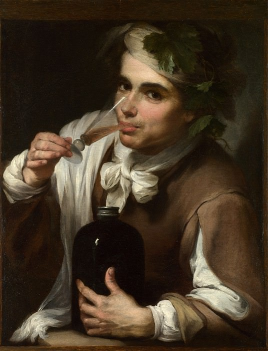 Style of Bartolome Esteban Murillo - A Young Man Drinking. Part 6 National Gallery UK