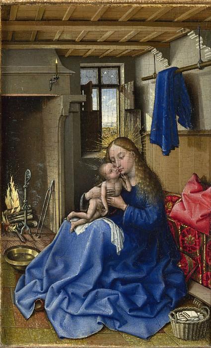Робер Кампен (мастерская) - Мадонна с Младенцем в интерьере. Часть 6 Национальная галерея