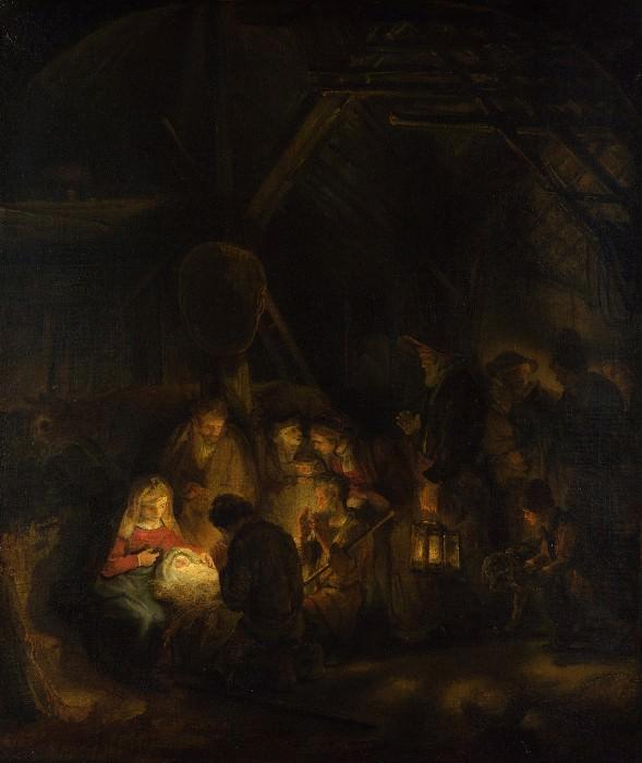 Поклонение пастухов (приписывается). Рембрандт Харменс ван Рейн