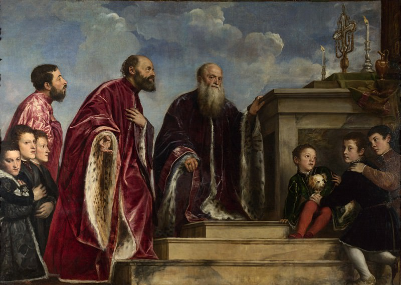 The Vendramin Family (Titian and workshop). Titian (Tiziano Vecellio)