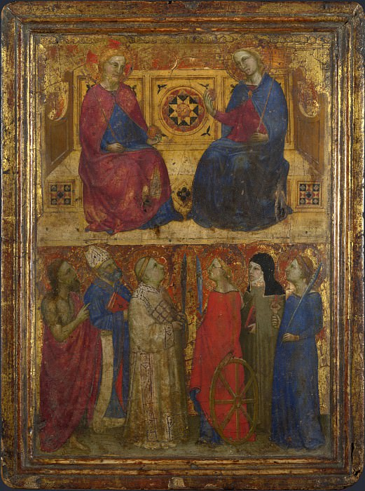 Style of Giovanni da Milano - Christ and the Virgin with Saints. Part 6 National Gallery UK