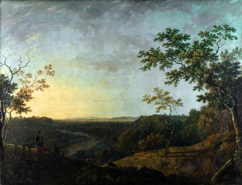 Richard Wilson - The Valley of the Dee, with Chester in the Distance. Part 6 National Gallery UK