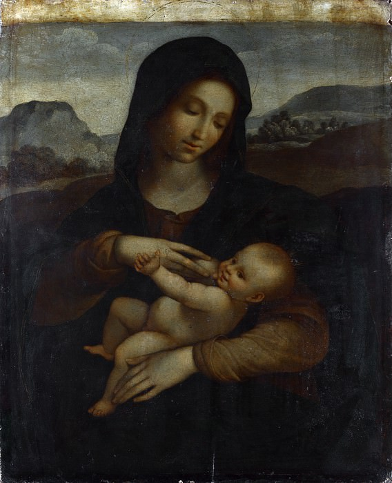 Sodoma - The Madonna and Child. Part 6 National Gallery UK
