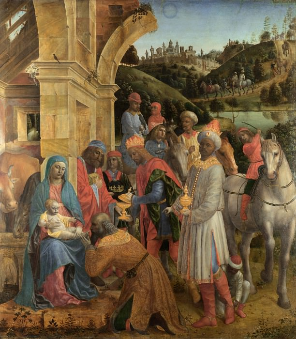 Vincenzo Foppa - The Adoration of the Kings. Part 6 National Gallery UK
