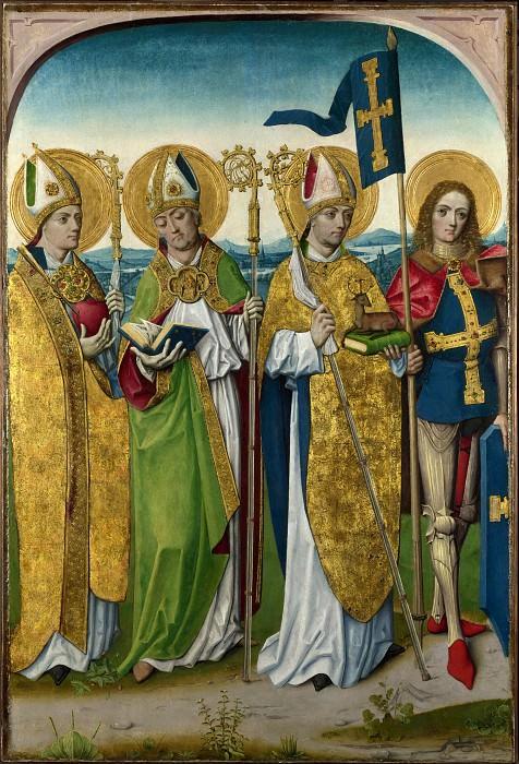 Мастер жития Девы Марии (мастерская) - Святые Августин, Хуберт, Людгер и Гереон. Часть 6 Национальная галерея