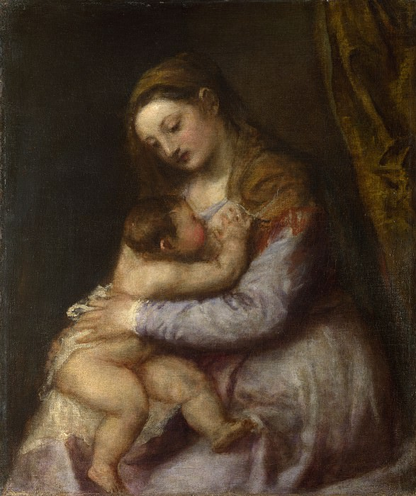 Titian - The Virgin suckling the Infant Christ. Part 6 National Gallery UK
