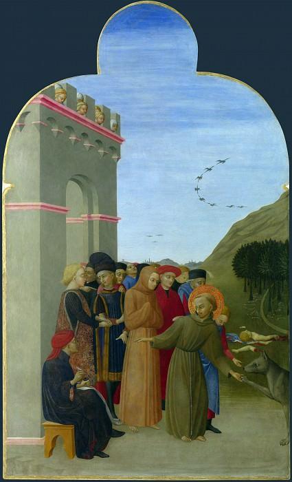 Sassetta - The Wolf of Gubbio. Part 6 National Gallery UK