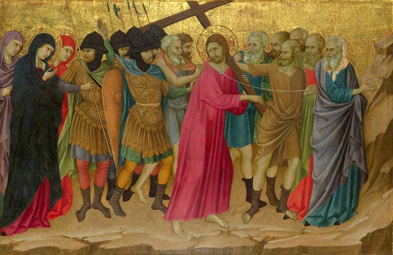 Ugolino di Nerio - The Way to Calvary. Part 6 National Gallery UK