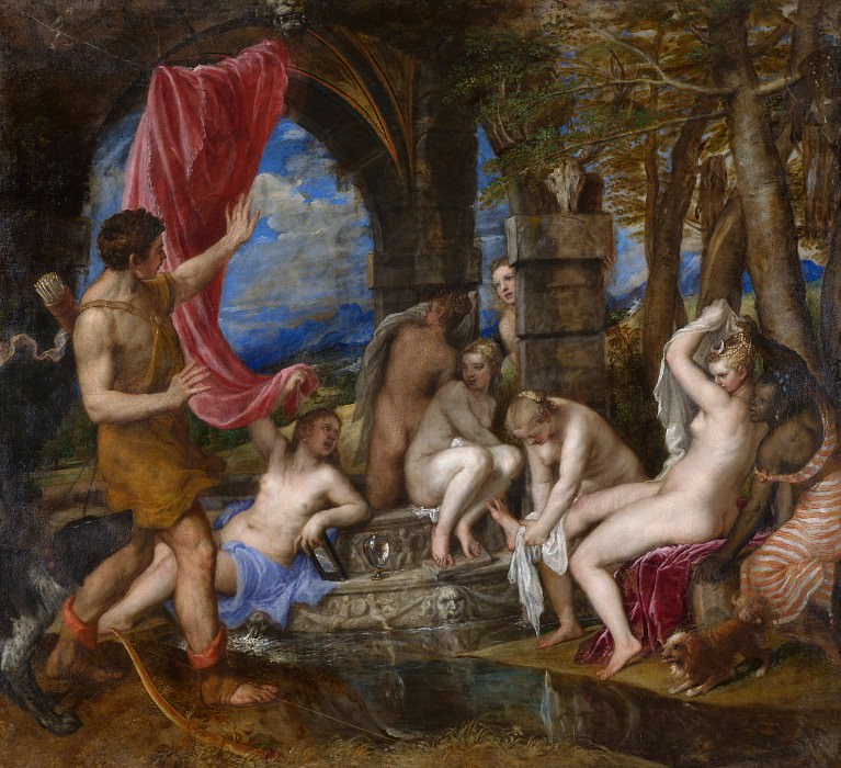 Titian - Diana and Actaeon. Part 6 National Gallery UK