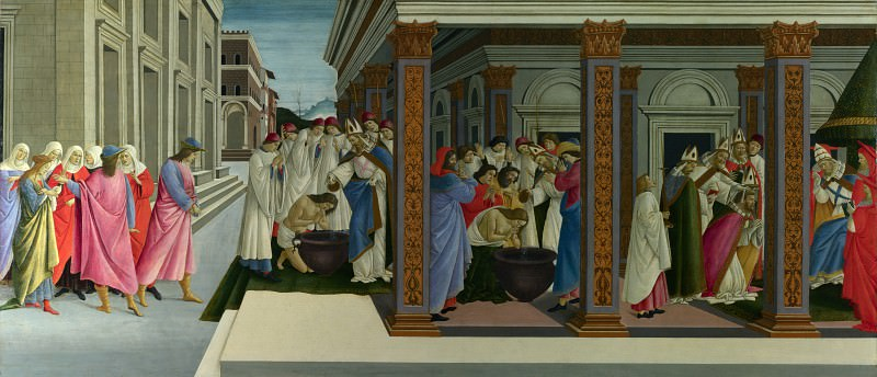 Sandro Botticelli - Four Scenes from the Early Life of Saint Zenobius. Part 6 National Gallery UK