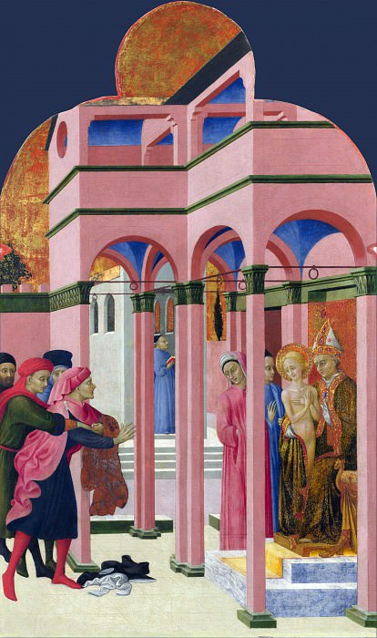 Sassetta - Saint Francis renounces his Earthly Father. Part 6 National Gallery UK