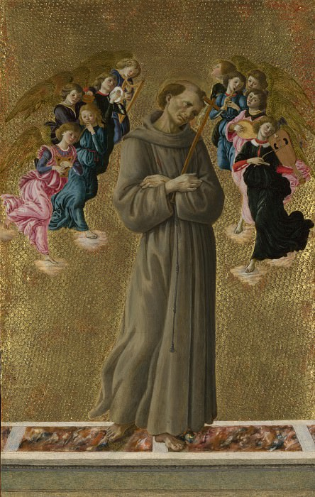 Saint Francis of Assisi with Angels. Alessandro Botticelli