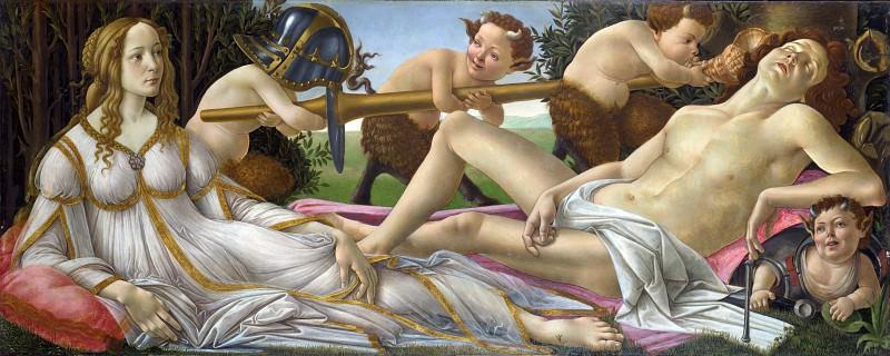 Сандро Боттичелли - Венера и Марс. Часть 6 Национальная галерея