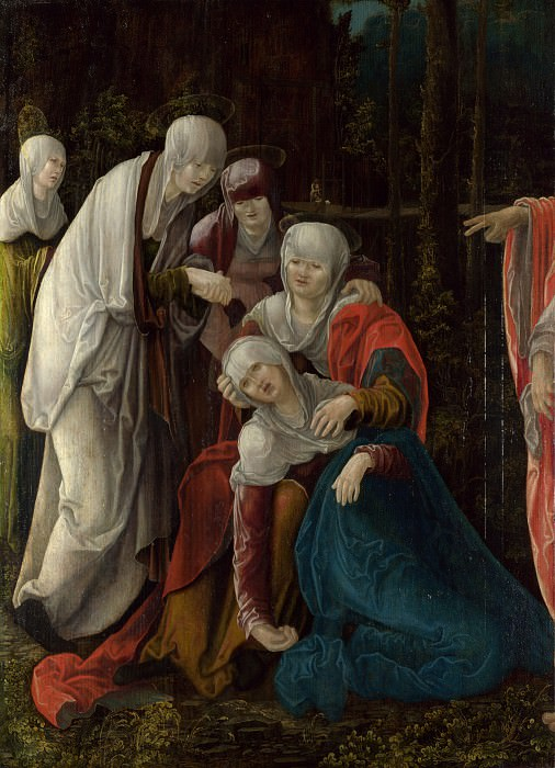 Wolf Huber - Christ taking leave of his Mother. Part 6 National Gallery UK