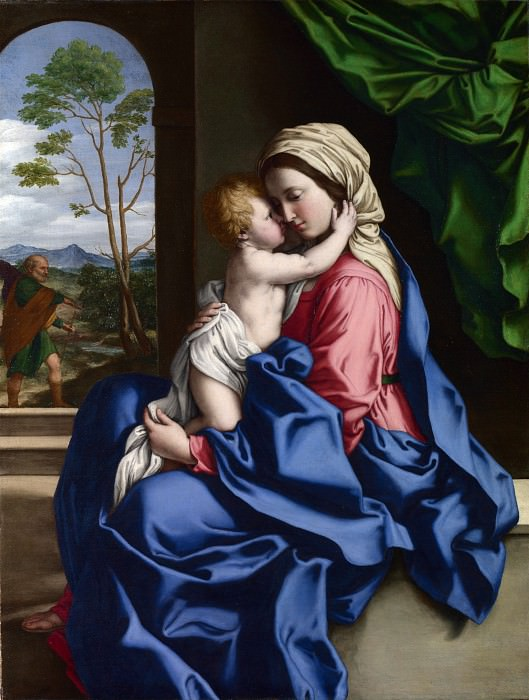 Sassoferrato - The Virgin and Child Embracing. Part 6 National Gallery UK