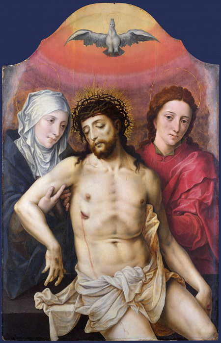 Workshop of the Master of the Prodigal Son - The Dead Christ supported by the Virgin and Saint John. Part 6 National Gallery UK