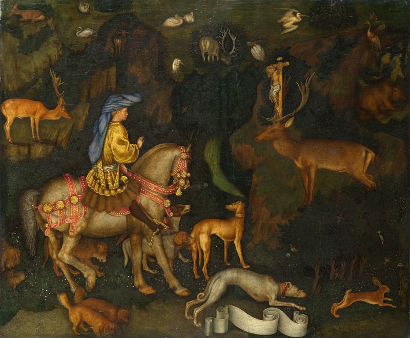 Pisanello - The Vision of Saint Eustace. Part 6 National Gallery UK