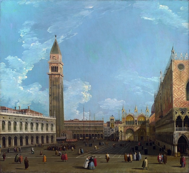 Studio of Canaletto - Venice - The Piazzetta from the Molo. Part 6 National Gallery UK