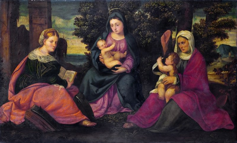 Style of Bonifazio di Pitati - The Madonna and Child with Saints. Part 6 National Gallery UK