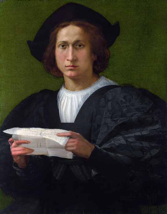 Rosso Fiorentino - Portrait of a Young Man holding a Letter. Part 6 National Gallery UK
