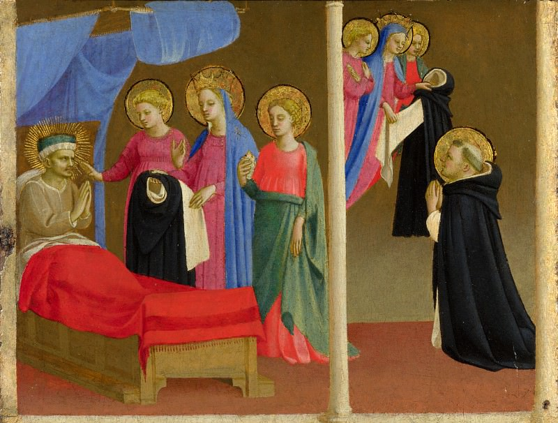 Workshop of Fra Angelico - The Vision of the Dominican Habit. Part 6 National Gallery UK