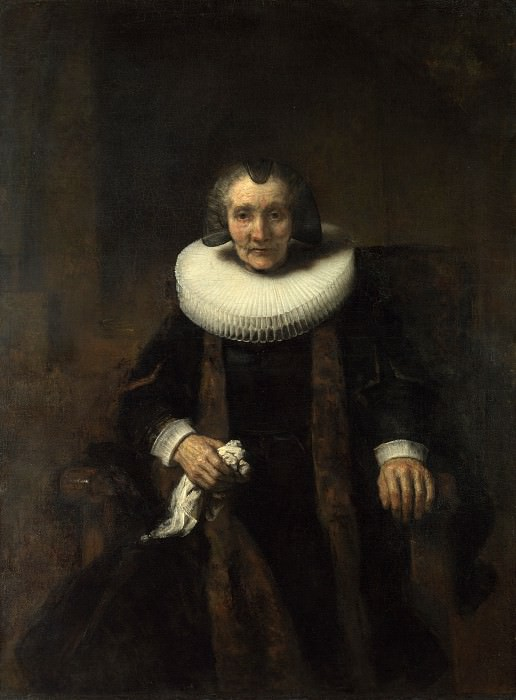 Rembrandt - Portrait of Margaretha de Geer, Wife of Jacob Trip. Part 6 National Gallery UK