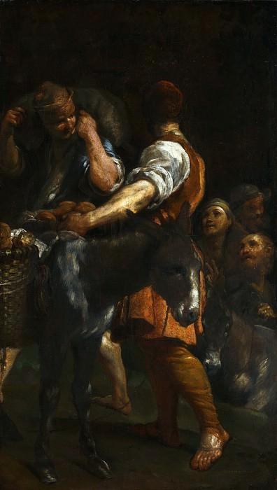 Джузеппе Мария Креспи - Крестьяне с ослами. Часть 6 Национальная галерея
