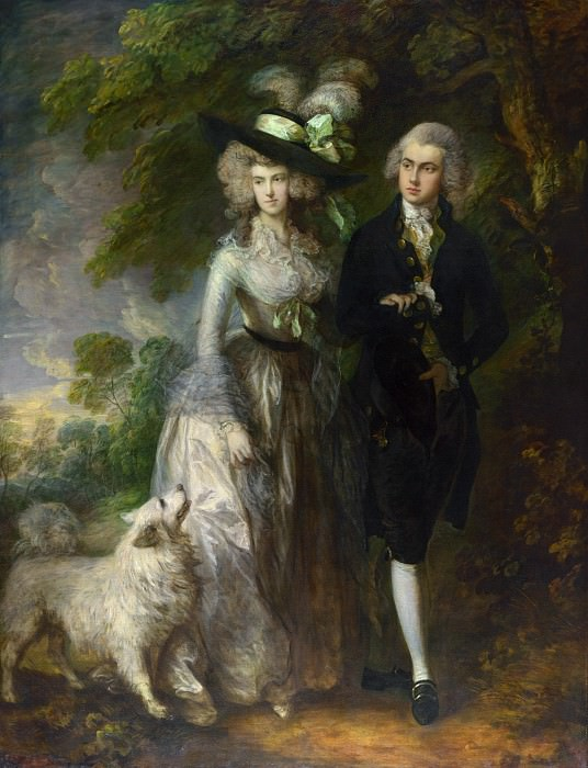 Thomas Gainsborough - Mr and Mrs William Hallett (The Morning Walk). Part 6 National Gallery UK