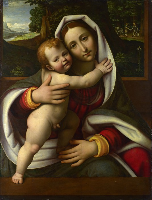 Workshop of Andrea Solario - The Virgin and Child. Part 6 National Gallery UK